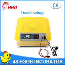 220V/110V/12V automatic classic model 48 poultry /chicken egg incubator CE approved