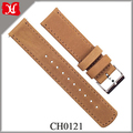 Ultra-soft Top Grain Leather Watch Strap Vintage Series Replacement Watch Band with Silver Buckle