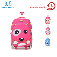 Vogue aluminium duffle mini 3 piece trolley luggage set travel school bags trolley bag with trolley sleeve for girls