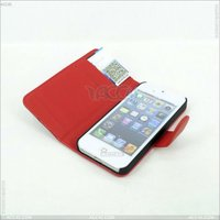 Hot Selling With Credit Card Slot Wallet Leather Case for iPhone 5 Smartphone Case P-IPH5CASE059