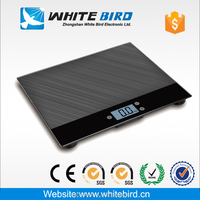 50kg 100kg 200kg 10mm high tempered glass industrial scale 600*500mm tare / on hold function