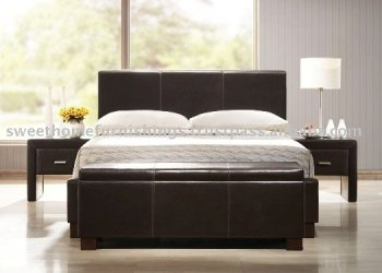 Furniture Bedroom/Mirana Faux Leather Bedroom Furnitures/beds, night stand, blanket box