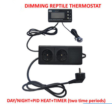 DTC-120 230V50HZ 0-50C Day/night Reptile Dimming Thermostat with EU Plug and Socket Regulator Temperature Controller