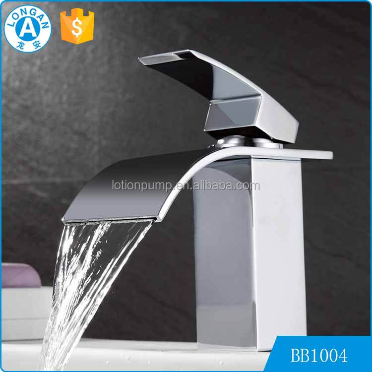 high-end quality Brass bathroom wash basin waterfall modern italian faucet