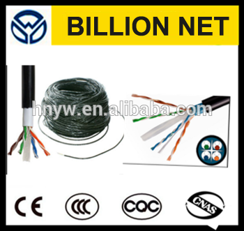 China manufacture 5000ft 1000ft CU conductor outdoor waterproof twisted pair cat6 network wiring
