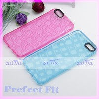 Transparent checked design tpu mobile cover for iphone
