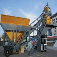 35m3/h 60m3/h 90m3/h Mobile Concrete Batching Plant with Mixer Sicoma