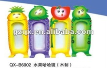 Wooden funny mirror fruit distorting mirror QX-B6902