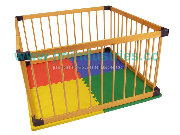 2014 Hot Sale Wooden Folding Playpen For Babies/Pets