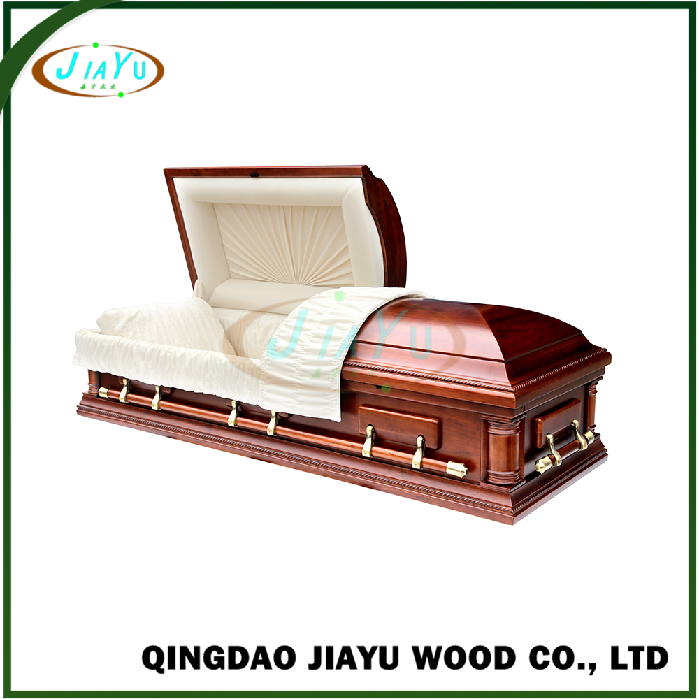 Wholesale us style handmade eco-friendly velvet funeral caskets from China