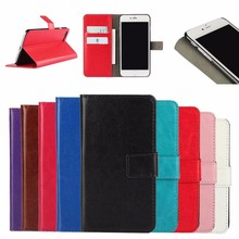 Crazy Horse pattern PU oil side Leather Wallet Case for iPhone 7 Plus