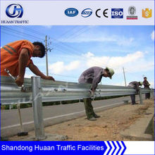Q235 steel road security barrier guard rail