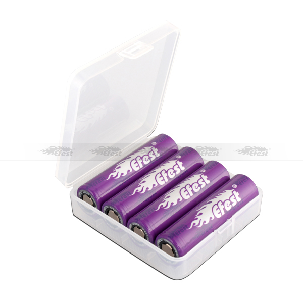 18650 plastic battery case efest 18650 battery case clear color efest 4 *18650 battery case