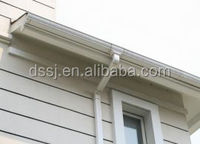 Factory supply cheap color round and square Plastic pvc rain roof drainage gutters