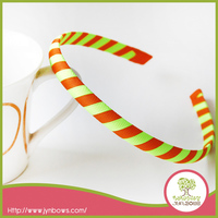 Handmade Grosgrain Ribbon Spiral stripes Girls hair bands