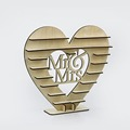HOT SALE Mr & Mrs Chocolate Heart Tree Wedding Display Stand Centrepiece