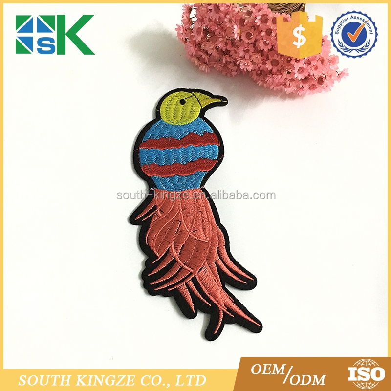 Colorful Parrot Embroidered Iron on Patch Bird Applique DIY Craft for Clothing