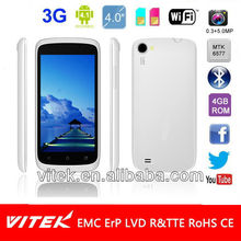 Android 4.1 Mobile Phone with 4 inch panel Dual Sim Dual Core MTK6577