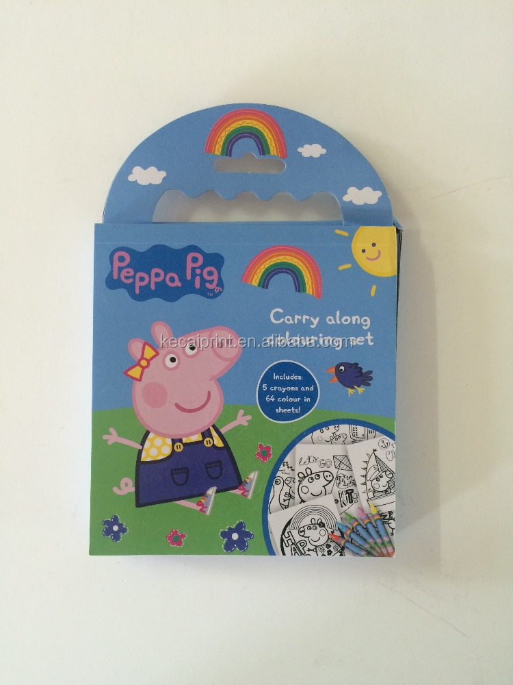 Carry along coloring set peppa pig