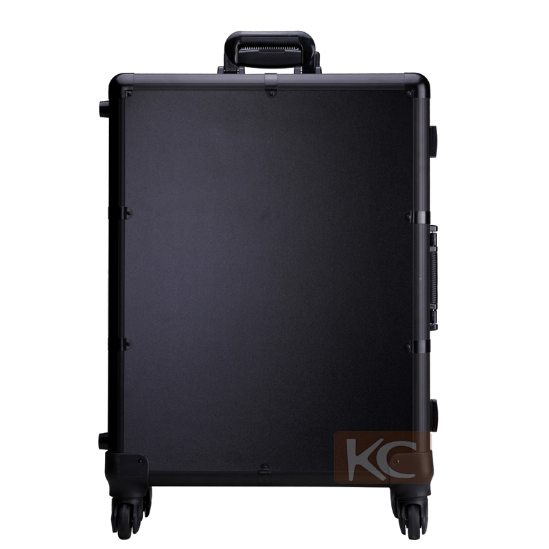 Professional Rolling Makeup Case with lights,hard makeup case with Stand Makeup case with lighted mirror size 580*450*228mm
