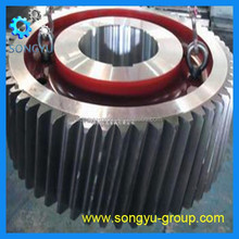 CNC hobbing stainless steel 304 helical gear wheel