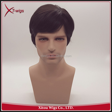 Hot Sale No Shedding Short Full Lace Hair Wigs for Men