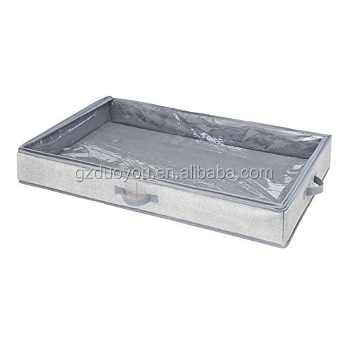 Dust and Mold Proof Underbed Storage Box with Clear Viewing Windows