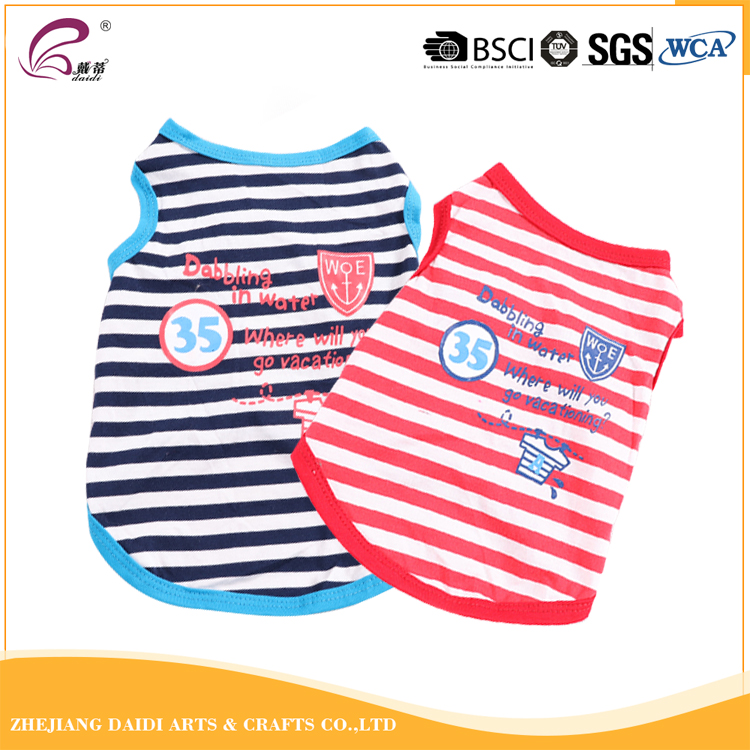 New Style XS S M L Striated Cotton Dog Clothes For Sale