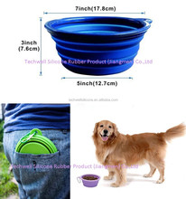BW-001 L Size Pet Bowl Silicone Collapsible Dog Bowl