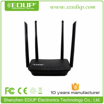 EDUP High Quality 300Mbps 2.4Ghz IEEE802.11b/g/n 192.168.1.1 wifi router wireless router with 4 antennas