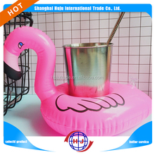 2018 HOT SALE inflatable flamingo drink can holder