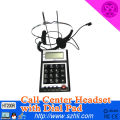 Dialpad with Call ID,Communication Call Center Headsets Telephones,.Noise Cancelling Headset with QD Cable optional
