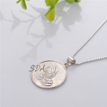 Praying Hands Pendant With Box Necklace Chain Prayer Coins Sterling Silver Charms
