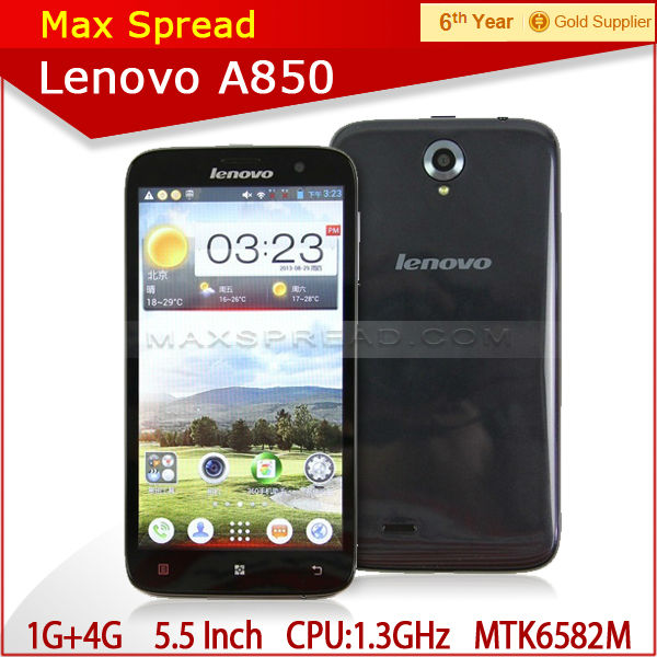 Hottest 5.5 inch android phone lenovo a850 MTK6582M Quad Core mobile phone