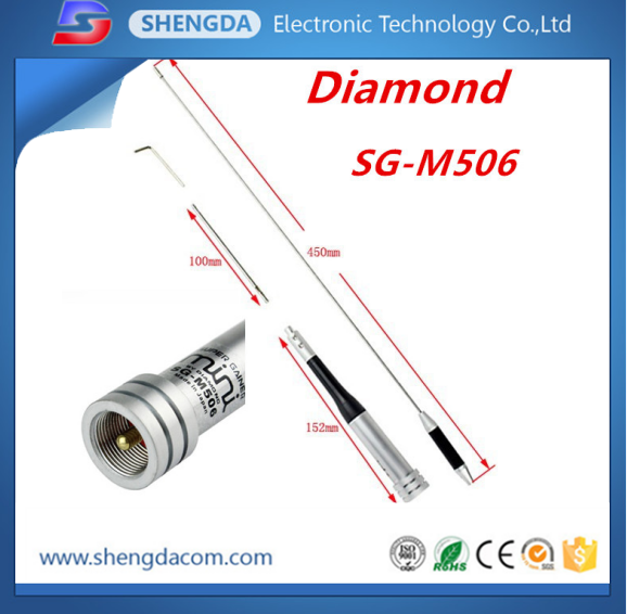 Diamond 144-430MHz VHF UHF dual band mobile antenna for electric car radio with PL259 connector