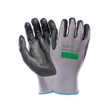 EN388 foam nitrile anti-slip working safety gloves hand gloves for construction work