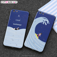 citycase Custom Design Embossed Full Printing Cell Phone Mobile Accessories Hard PC TPU Cover Case for iPhone 6 6s 6 Plus