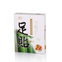 100% Natural bamboo vinegar contain Chinese herbal detox foot patch white