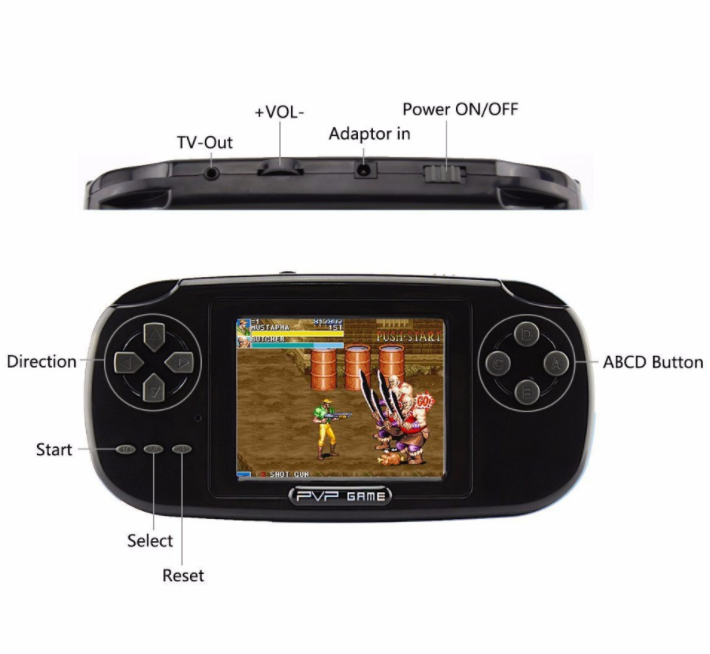 Nicebest 3.0 inch handheld Game Consoles PVP 168 Games 8-Bit Portable tv Game player
