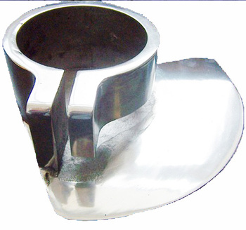 Water truck deflector nozzle,CUSTOMIZED spray nozzle,aluminum die casting,polished