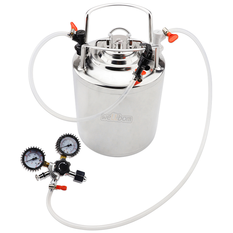 2.5 gallon Cornelius Stainless steel 10L beer keg & Faucet Tubing Kit & Co2 Beer Regulator kit Beer brewing
