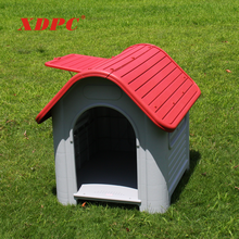 China plastic doggy supplies unique dog cat bed play house kennel with window veranda for large dogs