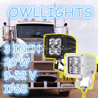 Practical moderate in price 4X4 accessories motorcycle 20w led spot light 20w 3 inch Square led work light for farming mining