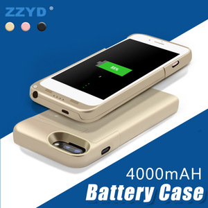 ZZYD 2018 Portable 4000mah Mobile Phone External Battery Case Power Bank Charger For iPhone 6/7/8 Cases
