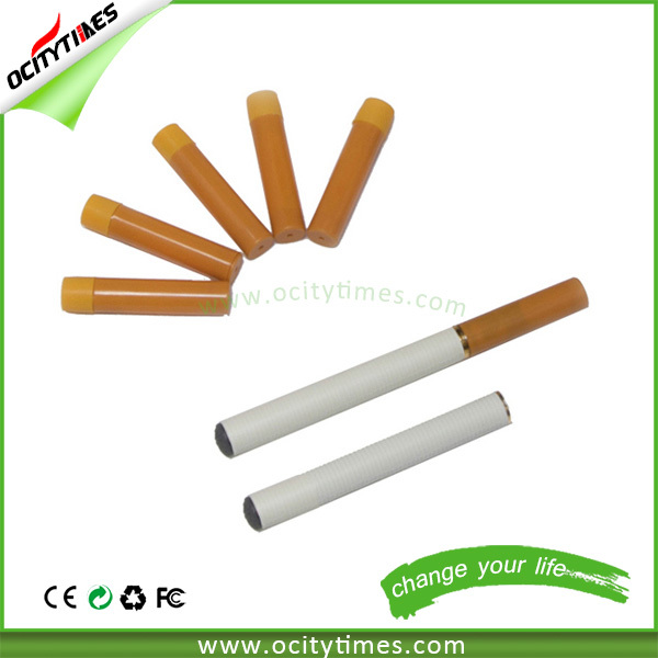 Newly best quality two part e cig with filled cartomizer, super slim electronic cigarette