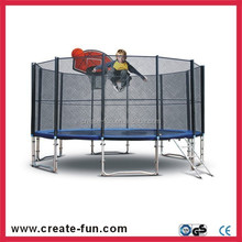 CreateFun 16FT commercial High Jumping trampoline with quality basket ball hoop