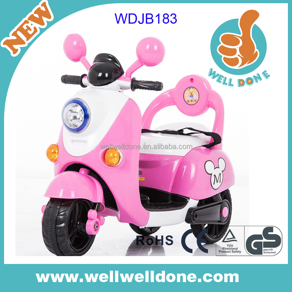 Popular design battery powered motorcycle for kids scooter electric with music and led lights WDJB183