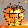 natural himalayan salt stone steel lamp with fashion style