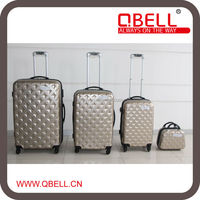 New Fashion Luggage Trolley Case/ABS+PC Luggage Trolley/Hard Travel Suitcase Luggage with Scale handle to France market