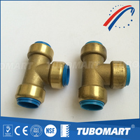 Tubomart NSF Precision Plumbing Fittings equal male straight push-in fitting